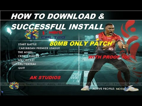 [HINDI ]How to Download and Install CPL T20 2017 Patch For EA cricket