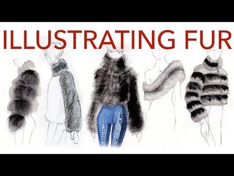 Fashion Illustration Tutorial: Fur & Shearling