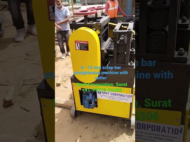 6 to 12 mm Scrap TMT Bar straightening machine