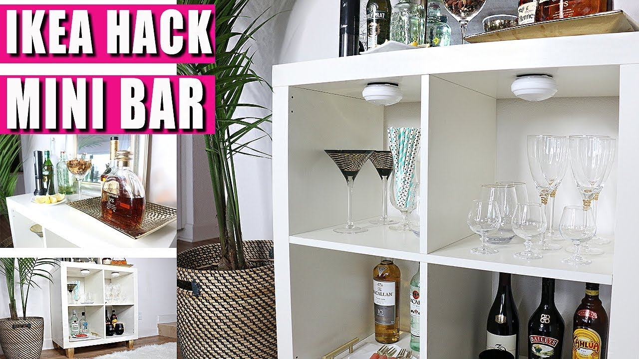 Ikea Hack Transform Bookshelf Into Mini Bar Youtube