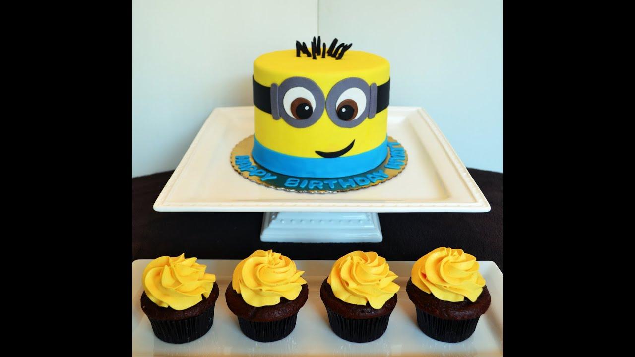 Minion Cake Design Pinterest : Pastel de Los Minions 2 Receta Fondant Paso a Paso - YouTube