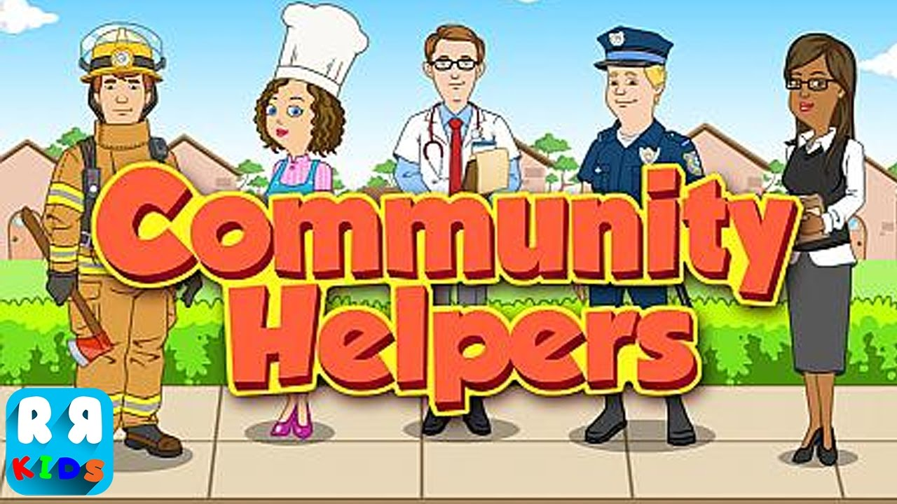 community helpers play u0026 learn educational game for kids by