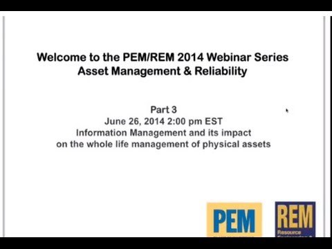 Information management and its impact on the whole life management of physical assets