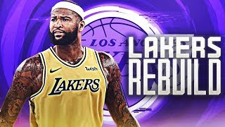 DEMARCUS COUSINS LAKERS REBUILD! NBA 2K19