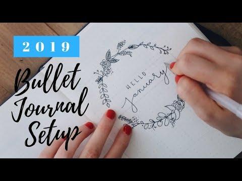 2019 BULLET JOURNAL SETUP + JANUARY PLAN WITH ME! | Laura-Lee thumbnail