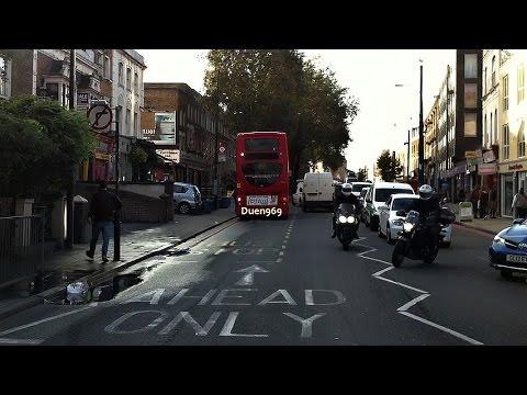 London Streets (544.) - Greenwich - New Cross Gate - Deptford Bridge - Elephant & Castle