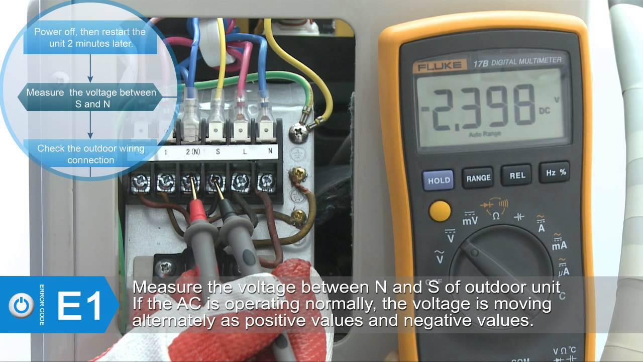 maxresdefault e1 code for superair split air conditioner youtube samsung air conditioner wiring diagram at nearapp.co