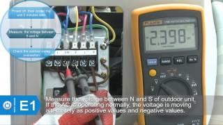 E1 code for Superair split air conditioner