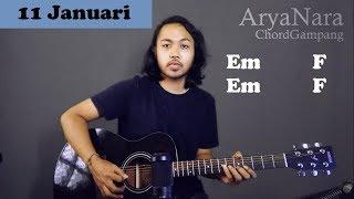 Chord Gampang (11 Januari - Gigi) by Arya Nara (Tutorial Gitar) Untuk Pemula