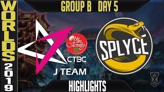 JT vs SPY Highlights Game 2 | S9 Worlds 2019 Group B Day 5 | CTBC J Team vs Splyce
