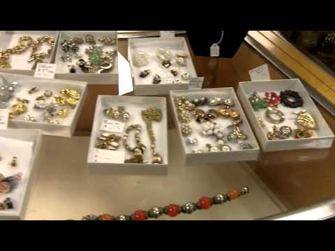 Vintage costume jewelry from our antiques mall at Gannon's Antiques.