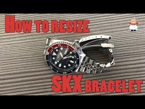 How To Resize Original Jubilee Bracelet On Seiko SKX 009 Or 007