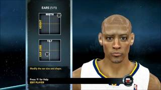 nba 2k12 how to create reggie miller