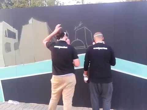 Biggest Spray wall painting art in Jeddah,