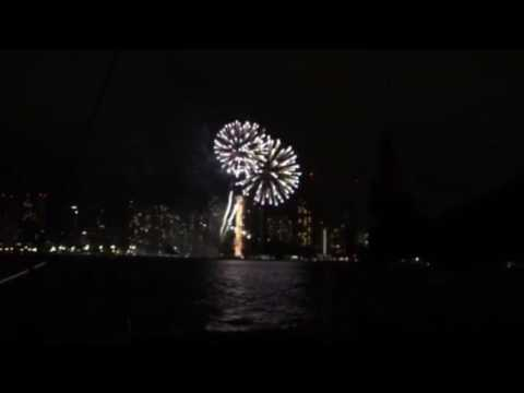 Fireworks show Waikiki Hawaii Honolulu September 16th 2016