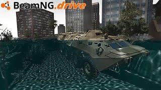 BeamNG.drive - TSUNAMI HITS BEAMNG