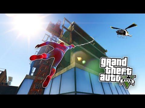 GTA 5 PC Mods - SPIDERMAN MOD w/ GRAPPLING HOOK! GTA 5 Spiderman Mod Gameplay! (GTA 5 Mods Gameplay)