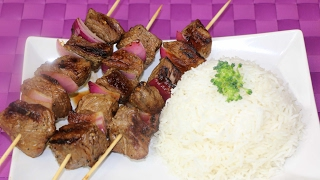 Homemade Beef Kebabs -  How to Make Beef Kebabs at Home