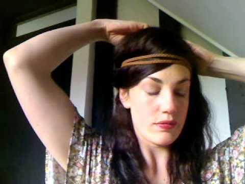 **EASY**QUICK**70's Boho Hairstyle** Headband plaits ...