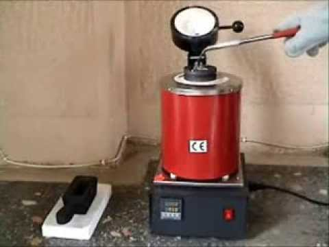 MINI MELTING ELECTRIC FURNACE Make Your Bars - YouTube