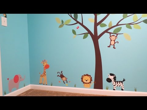 How to Install Fabric Wall Decals!!!