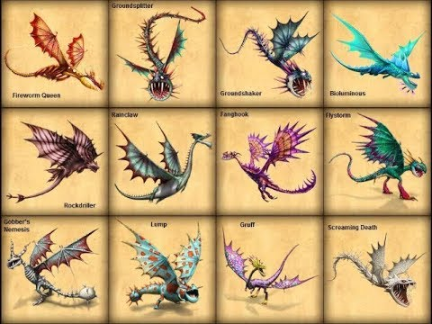 Every Dragon Species In How To Train Your Dragon 1-2