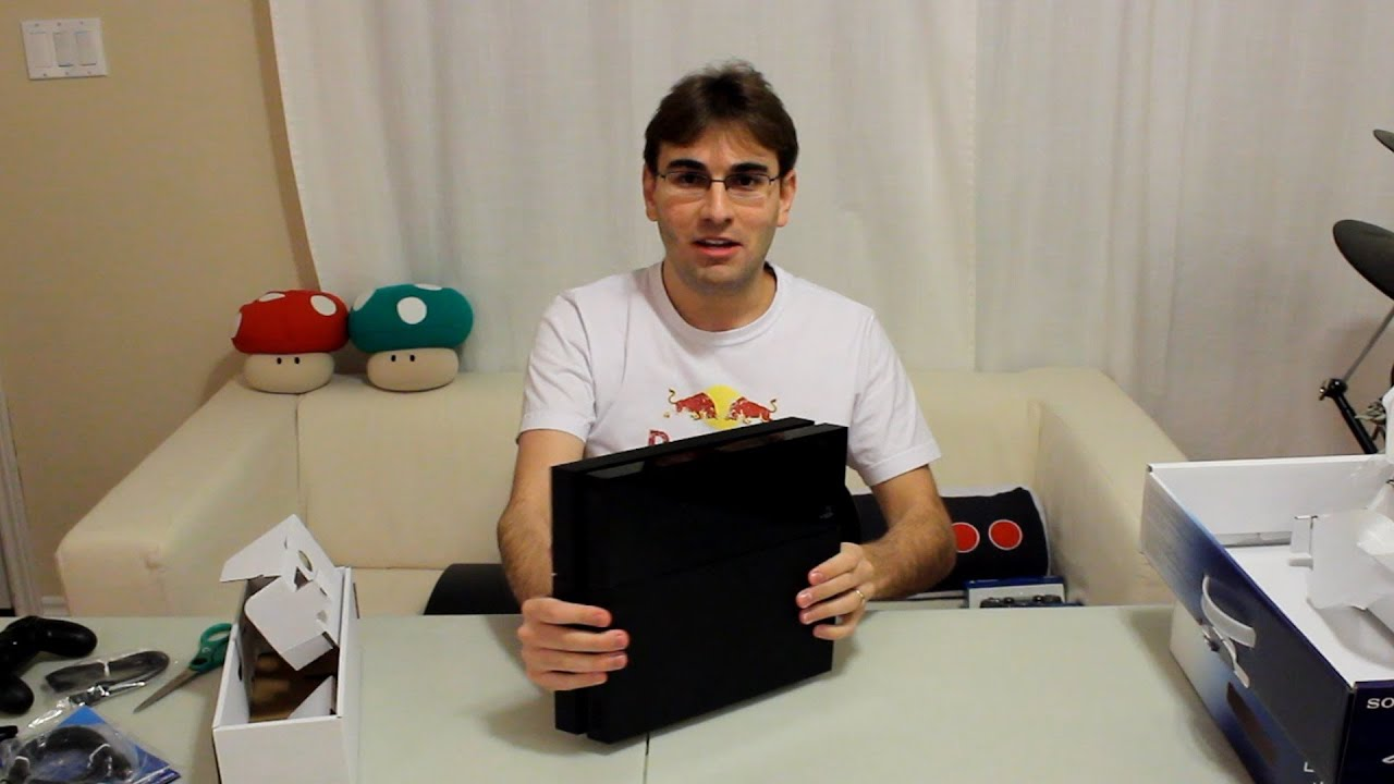 4133195f17b589 UNBOXING PLAYSTATION 4 - PS4 FINALMENTE!!! - YouTube
