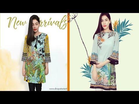 Latest Orient Textiles Digital Printed Kurta For Girls