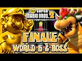 New Super Mario Bros 2 3DS - FINALE - World 6 & Final Boss (2/2) (2 Player) 100%