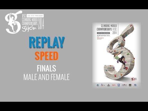 IFSC Climbing World Championships Gijón 2014 - Speed - Final - Men/Women