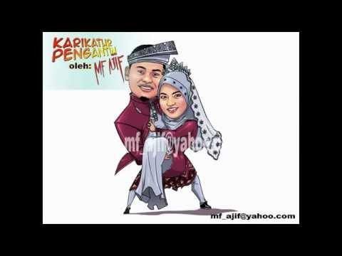 Karikatur Pengantin  oleh MF Ajif YouTube
