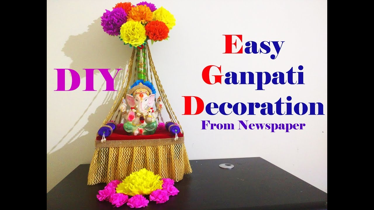 easy ganesh decoration ideas at home
