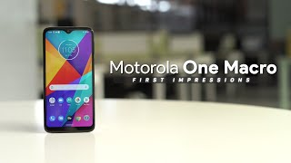 Motorola One Macro First Impressions!