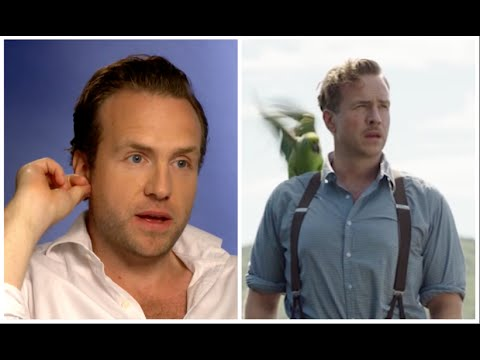 Rafe Spall has trouble with Parrot costar in funny Swallows and Amazons .