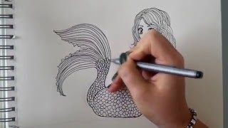 How to draw a Mermaid - step by step (requested) [Part 1]