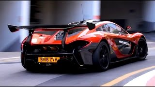 mclaren p1 sound in the city - start and acceleration - video más