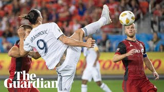 Zlatan Ibrahimovic scores 500th career goal with stunning spinning volley