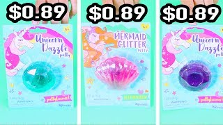 $0.89 Mermaid & Unicorn Putty from Toys R Us - store bought slime
