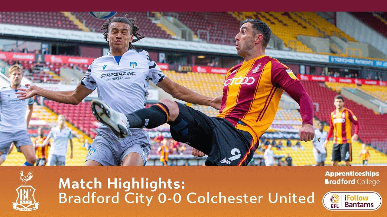 Брэдфорд Сити  0-0  Колчестер Юнайтед видео