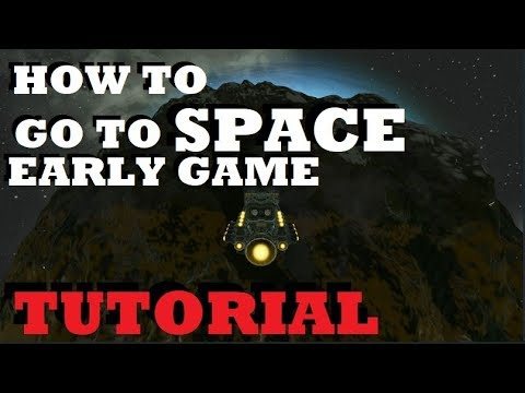 Space Engineers - How to build a SIMPLE Hydrogen Ship to get into SPACE - Tutorial