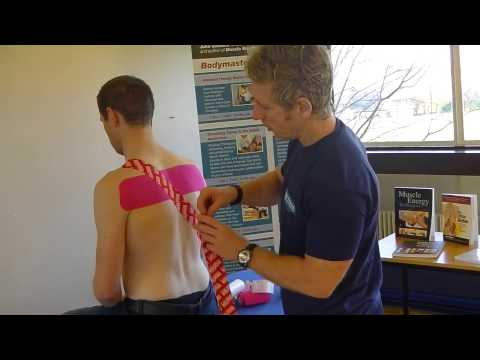 Postural Taping For Back & Neck Pain Using Kinesiolgy Tape (RockTape)