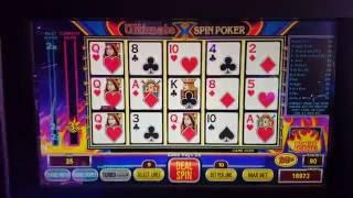 Ultimate X Spin Poker Live Play Demo from G2E 2016 Royal Flush