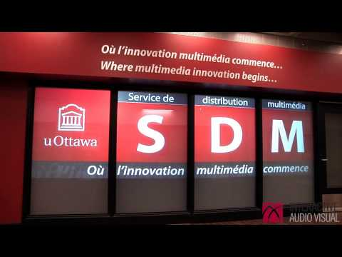 ProDisplay + University of Ottawa  By Interactive Audio Visual Inc.