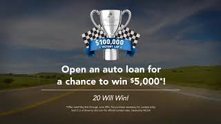 Open an auto loan for a chance to win!
