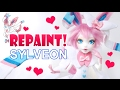 Repaint! Valentine's Day Sylveon Pokemon Custom OOAK Doll