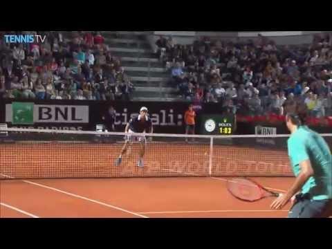 Roger Federer Hot Shot Rome 2015 vs. Pablo Cuevas