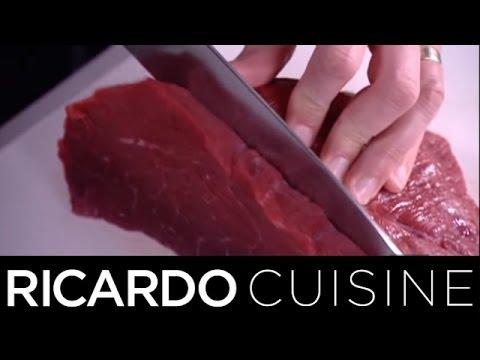 Comment couper de la viande ricardo cuisine youtube - Comment couper des parties d une video ...