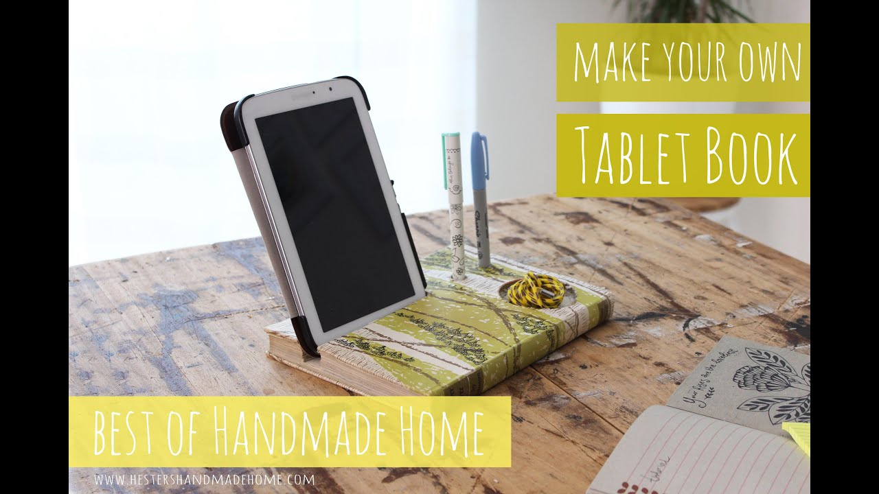 Best of handmade home make your own tablet book stand youtube malvernweather Images