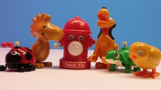 Walking Fire Hydrant | Vintage Toys | Tomy Wind Up Toys | Disney Toys