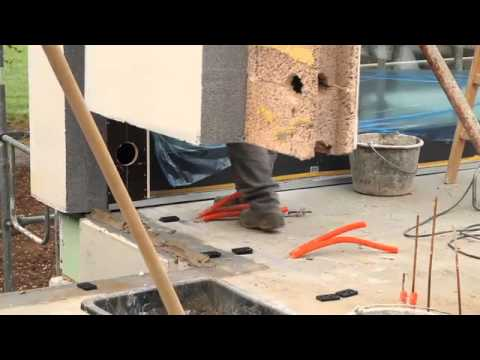 Massives Fertighaus 1 Tag Wandmontage Youtube - Fertighaus Beton